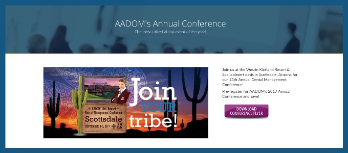 Sign up for AADOM's annual conference right on our website!