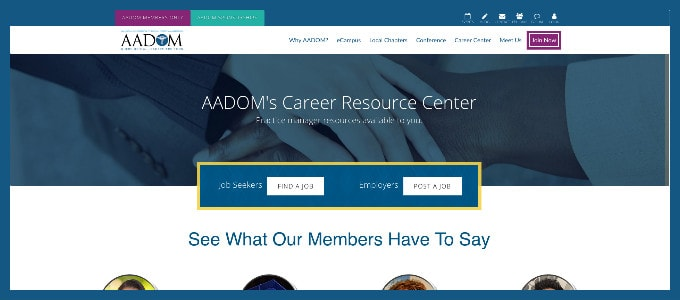 Check out AADOM's new and improved Career Resource Center.