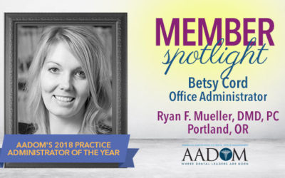 Meet the 2018 Practice Administrator of the Year
