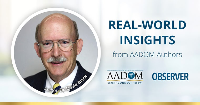 Real-World Insights by AADOM author - Dr. David Black