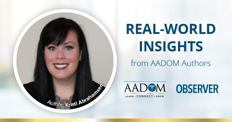 Real World Insights from AADOM Authors - Kristi Abrahamsen.