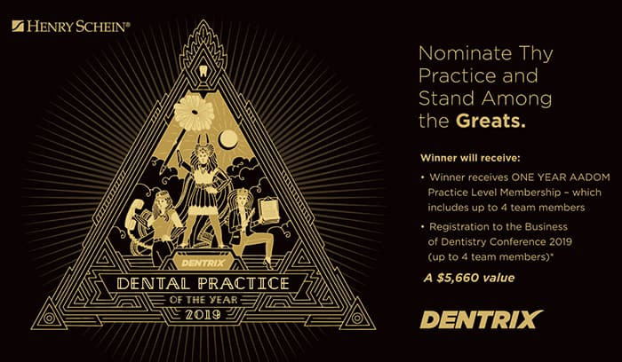 Graphic of what you win as Dentrix Dental Practice of the Year