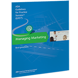 Blue catalog called Managing Marketing