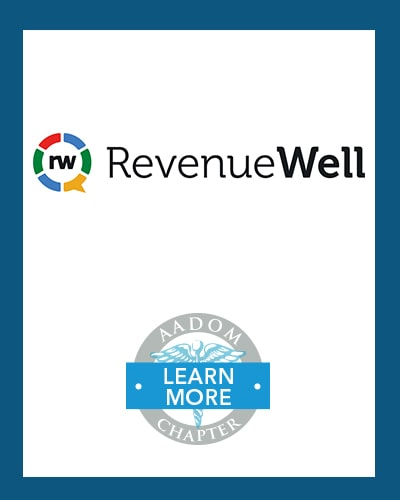 RevenueWell logo with AADOM Chapter logo saying