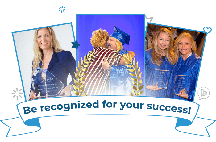 Be recognized for your success!