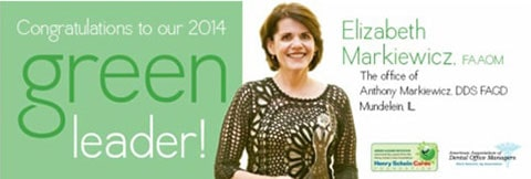Ad announcing Elizabeth Markiewicz as the Green Leader Winner 2014