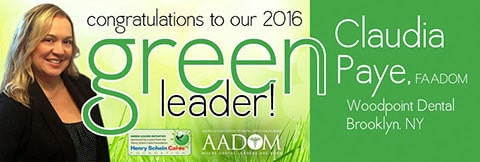 Ad announcing Claudia Paye as the Green Leader Winner 2016