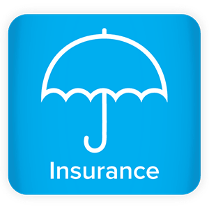"Umbrella icon with the word ""Insurance"""