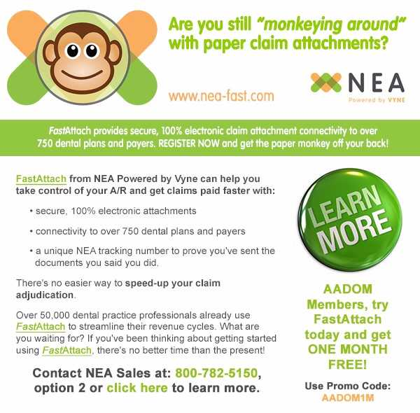An ad about NEA's exclusive offer for AADOM members
