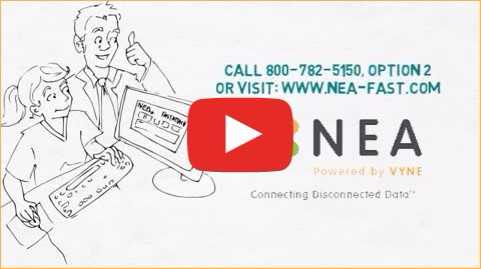 Video screenshot of what NEA can offer dental office managers