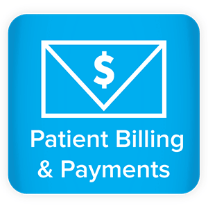 "Envelope icon with the word ""Patient Billing & Payments"""