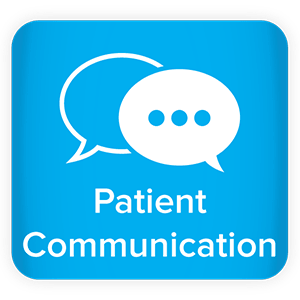 "Comment bubbles icon with the word ""Patient Communication"""