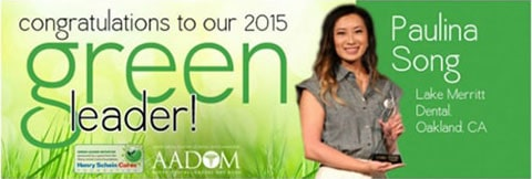Ad announcing Paulina Song as the Green Leader Winner 2015