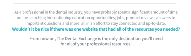Description on what The Dental Exchange is