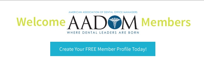 Welcome AADOM members - Create your free member profile today!
