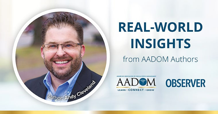 Real-World Insights from AADOM authors - Andy Cleveland.