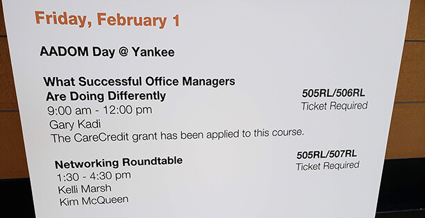 A preview of the itinerary of AADOM Day @ Yankee