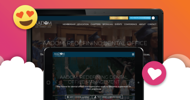 A preview of AADOM's new website