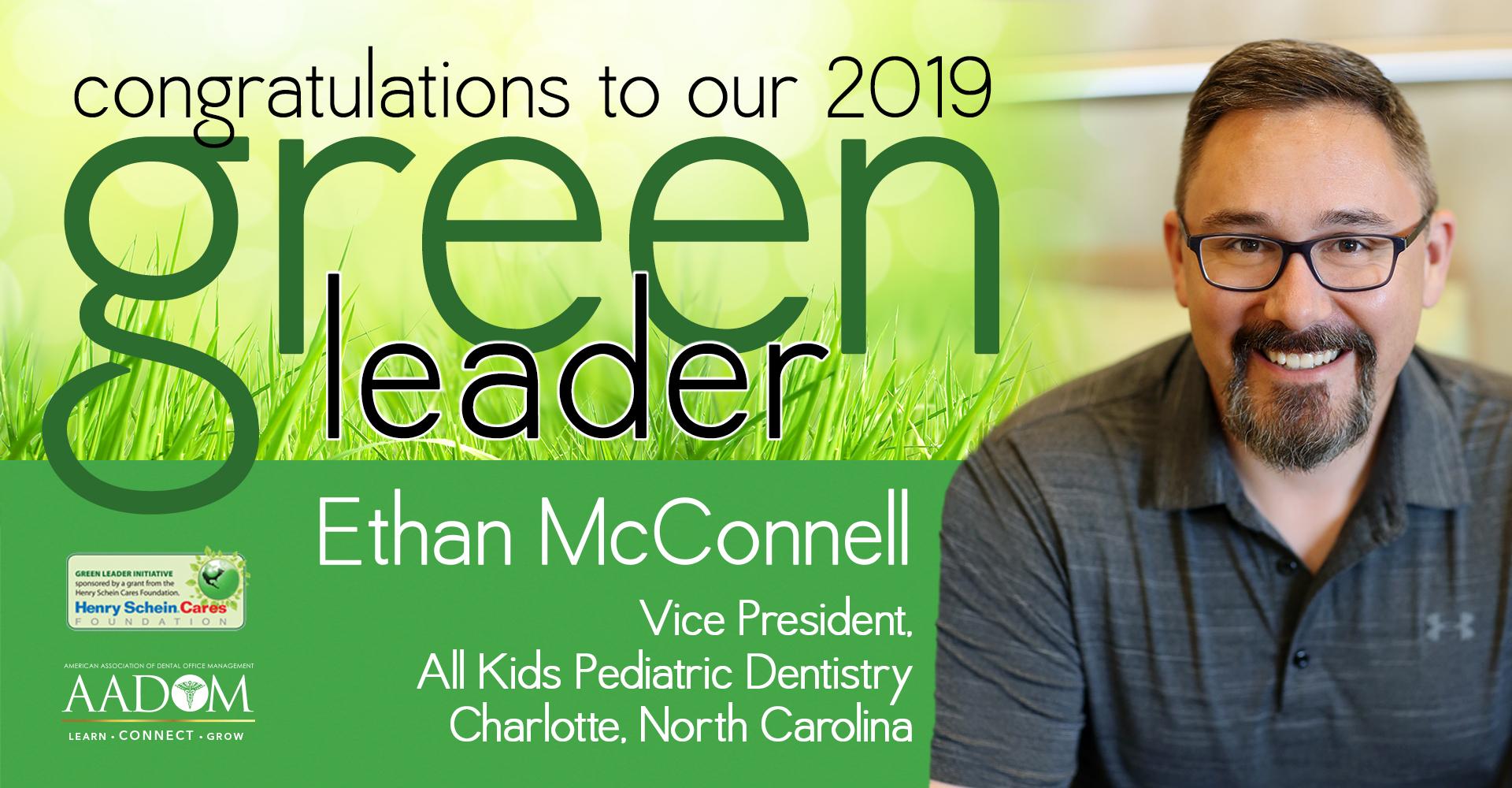 An ad congratulating the 2019 Green Leader winner