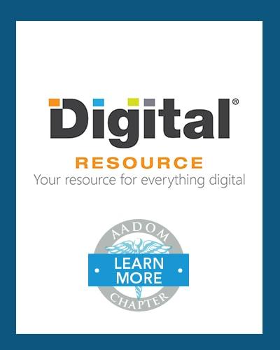 Digital Resource logo with AADOM Chapter logo saying