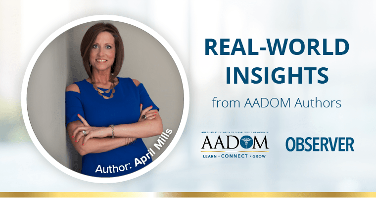 Real-world insights from AADOM authors - April Mills