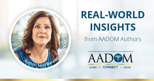Real-world insights from AADOM Authors, Luci Berardi, FAADOM presenting on work-life balance for dental managers