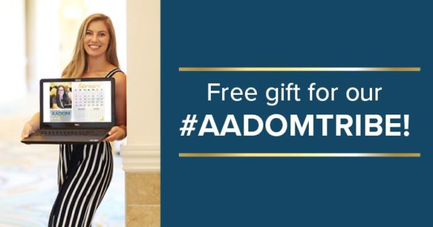 Free gift for our AADOM Tribe: February Calendar