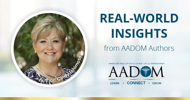 Picture of AADOM author, Cindy Ishimoto, who discusses generations in dentistry