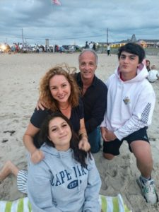 AADOM's Founder Heather Colicchio with her family at the beach
