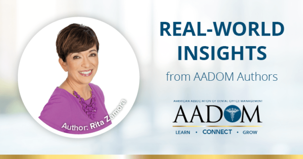 Rita Zamora with text, real-world insights form AADOM authors