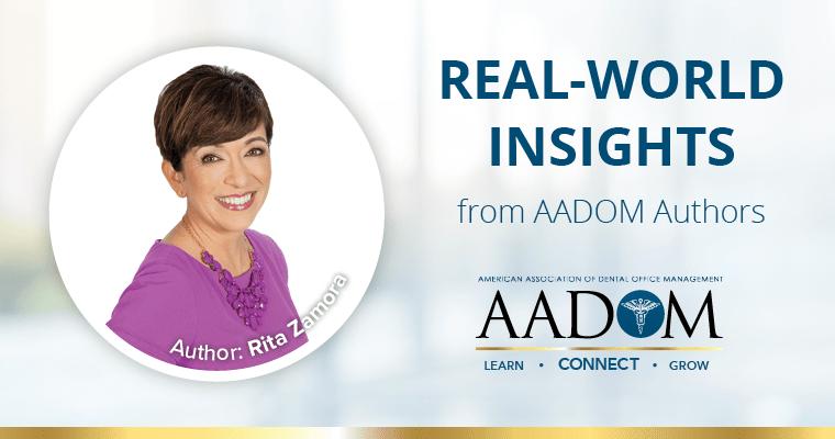 Rita Zamora with text, real-world insights form AADOM authors