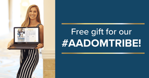 Free gift for our #AADOMTribe!