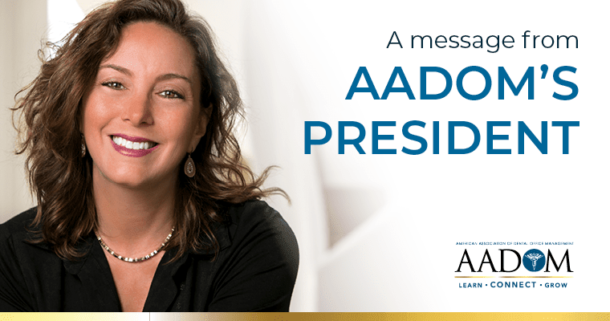 A message from AADOM's President, Heather