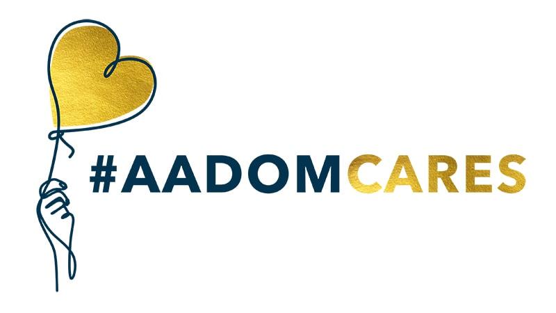 AADOM Cares Logo