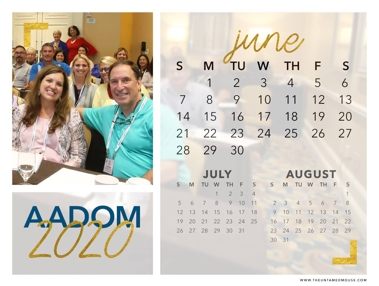 AADOM June Calendar Download