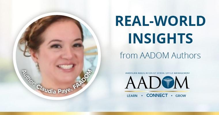 Real world insights from AADOM authors. Author: Claudia Paye, FAADOM