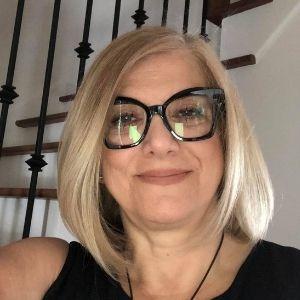 Rosa Pasquantonio in black top and glasses