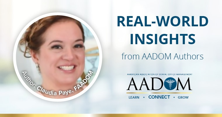 """Claudia Paye, FAADOM with text, """"Real-world insights from AADOM authors"""""""