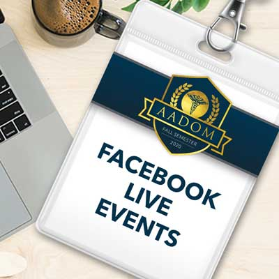 aadom fall semester facebook live events