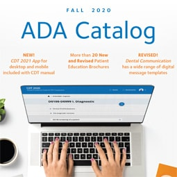 Fall 2020 ADA catalog with benefits listed
