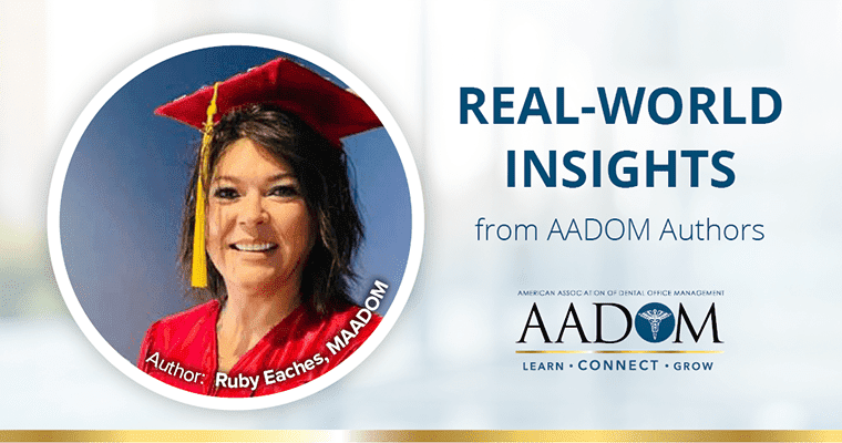 "Ruby Eaches, MAADOM with text, ""Real-world insights from AADOM authors"""