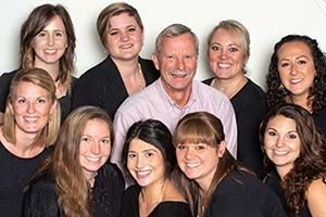 Stacey Singleton's dental team group photo