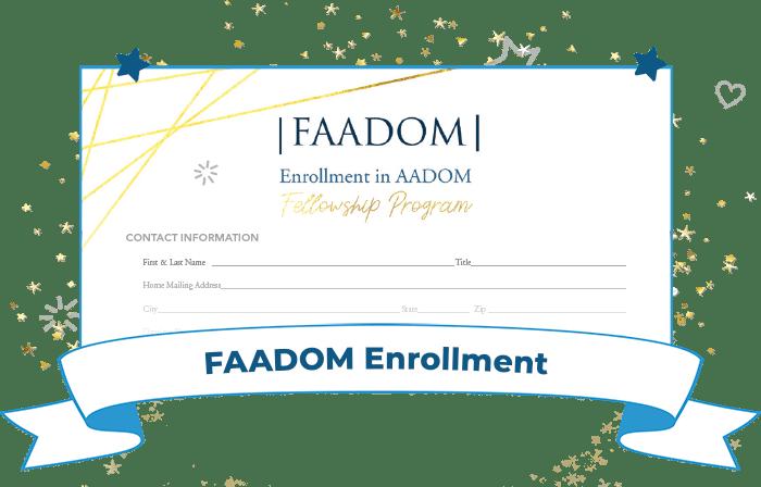 FAADOM Enrollment preview graphic