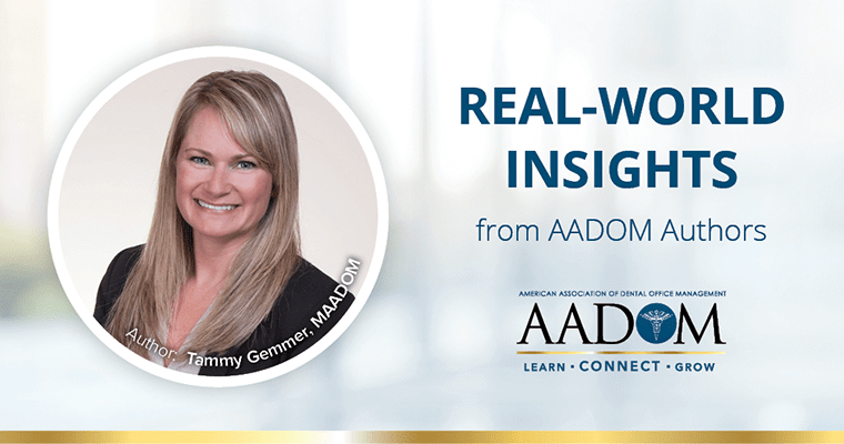 "Tammy Gemmer, MAADOM with text, ""Real-world insights from AADOM authors"""