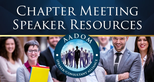 Looking for a great speaker for your chapter meeting?