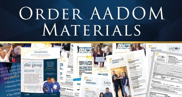 Order AADOM materials