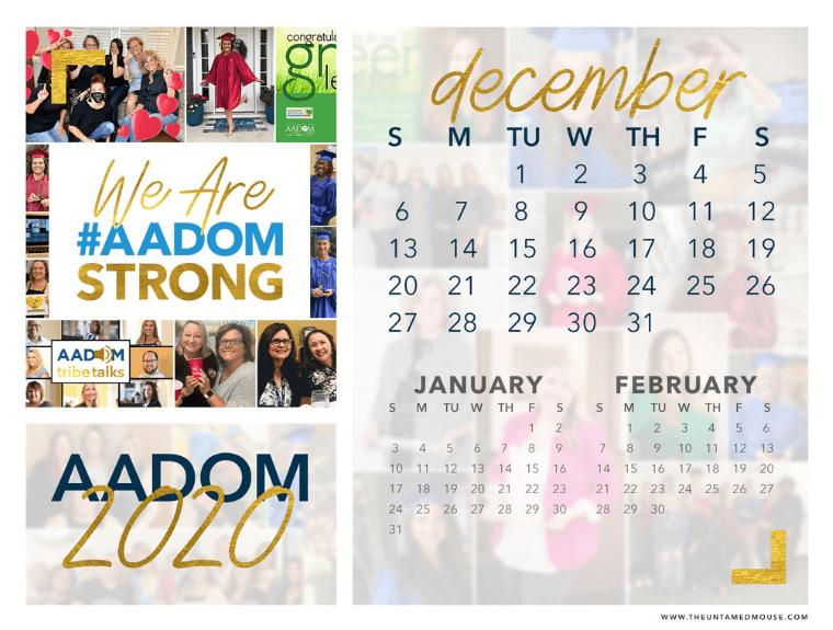 Calendar of December 2020