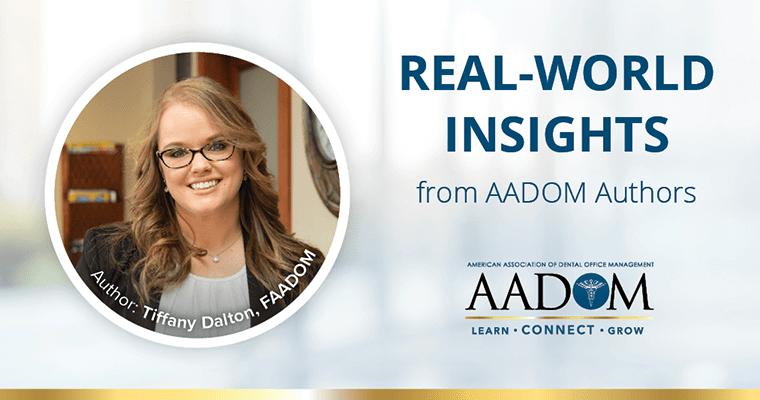 """Tiffany Dalton, FAADOM with text, """"Real-world insights from AADOM authors"""""""