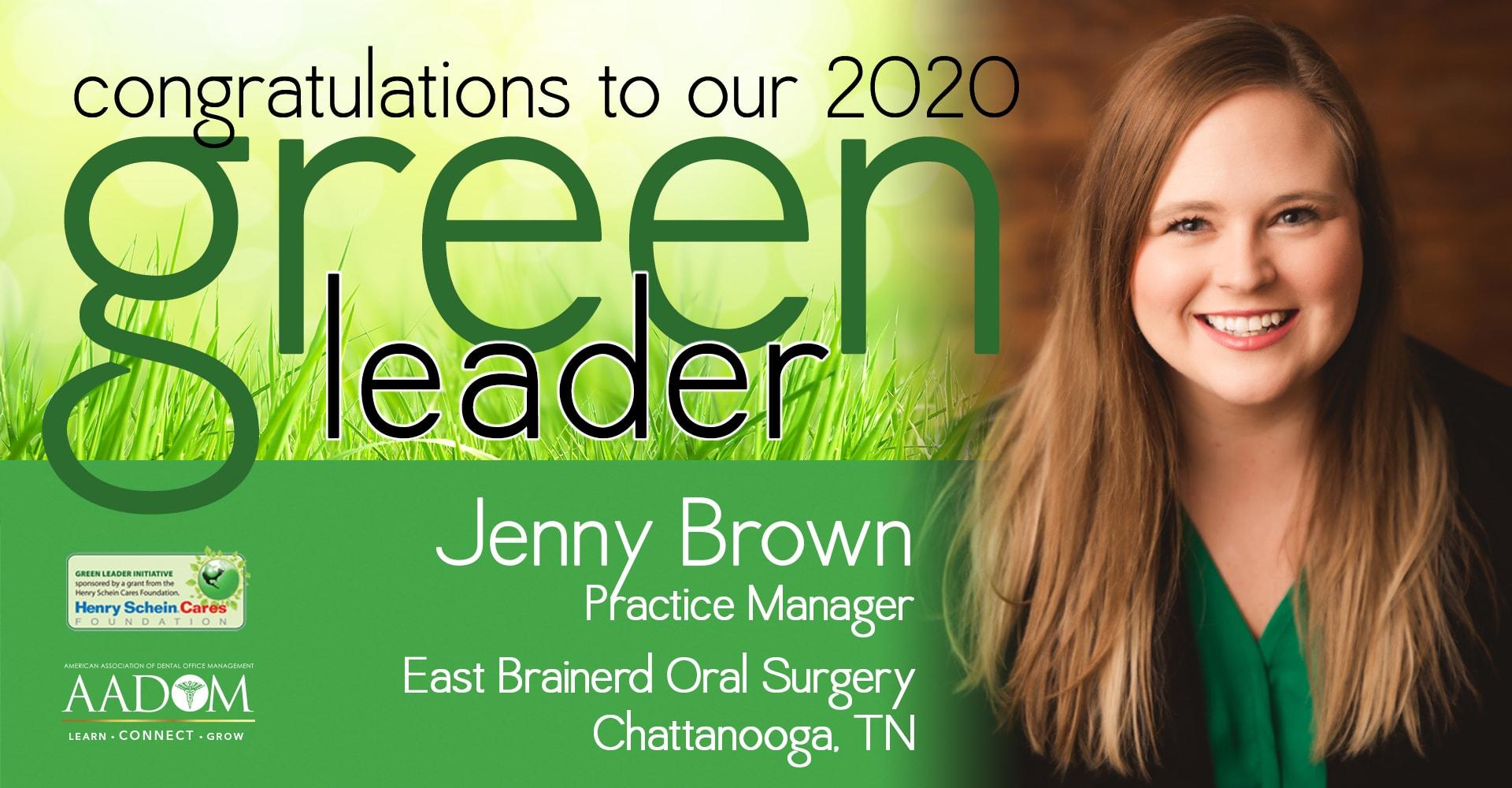 An ad congratulating the 2020 Green Leader winner