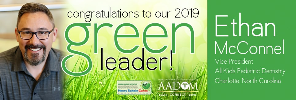 Ad announcing Ethan McConnel as the Green Leader Winner 2019